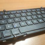 膝の上で使える 折りたたみ式ワイヤレスキーボード/EC Technology® Bluetooth3.0